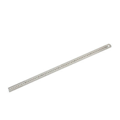 Office Stainless Steel 60cm 24 inches Metric Measuring Straight Ruler
