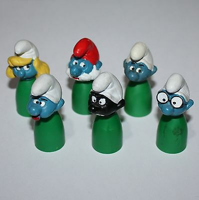 Puffo Puffi Smurf Smurfs Stationery Finger Puppets Complete Sat Green