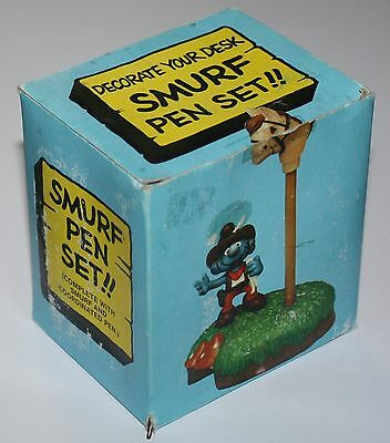 Puffo Puffi Smurf Smurfs Stationery 7905 Cowboy Pen Set + Box B
