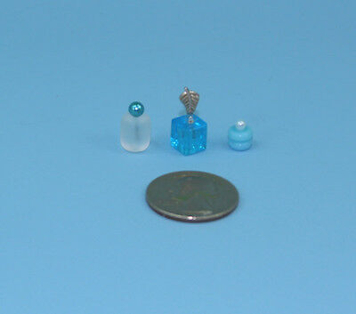 Beautiful Set of 3 Dollhouse Miniature Perfume Bottles for your Vanity #PS2