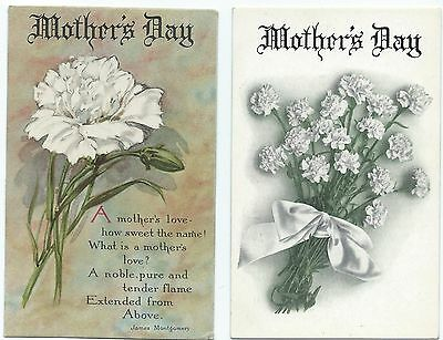 Postcard Lot (2) Mother's Day, c19102-0
