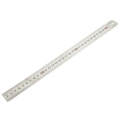 "30cm 12"" Measuring Dual Side 0.5mm Accuracy Stainless Steel Straight Ruler"