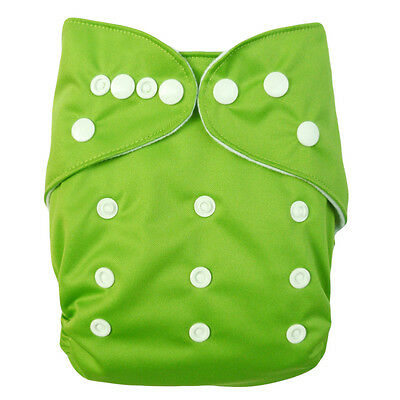 1 Washable Reusable Baby Cloth Diaper Green Nappy for Boy +1Insert Ship from US