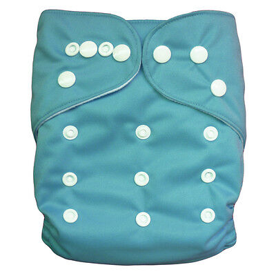 1 Washable Reusable Baby Cloth Diaper Blue Nappy for BOY +1Insert Ship from US