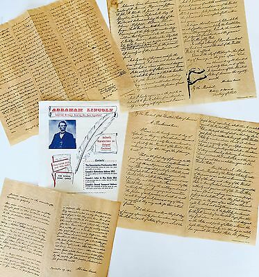 4 ABRAHAM LINCOLN WRITINGS 1956 Reproductions on Parchment NATIONAL ARCHIVES