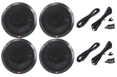 "(2) Pairs Rockford Fosgate R165X3 6.5"" 6-1/2 3-Way Car Stereo Speakers"