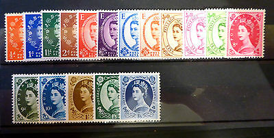 GB 1958 Wildings Complete 17 Values 570/586 Unmounted Mint NEW SALE PRICE FP798