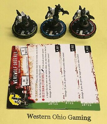 Horrorclix The Lab Werewolf Orderly #001 002 003 REV SET USED from Booster Pack