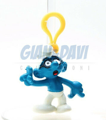 PUFFO PUFFI SMURF SMURFS STATIONERY CLIPS with Keyrings Brainy