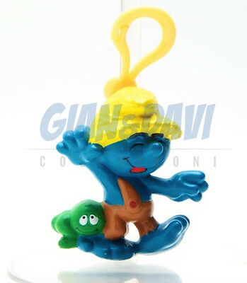 PUFFO PUFFI SMURF SMURFS STATIONERY CLIPS with Keyrings Nat