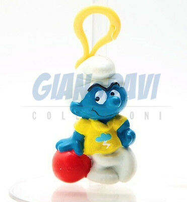 PUFFO PUFFI SMURF SMURFS STATIONERY CLIPS with Keyrings Snappy