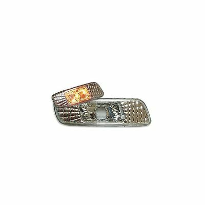 2x Crystal Front Bumper Repeater Indicators Marker Light Replacement 12v