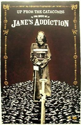 JANE'S ADDICTION 2006 from the catacombs promo poster ~MINT~NEW old stock~!!