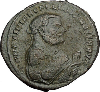 MAXIMIAN 306AD Follis Providentia and Quies Authentic Ancient Roman Coin i44376
