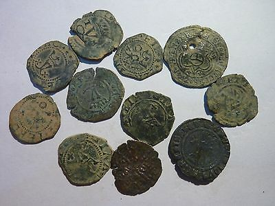 *Patony* 10 SPANISH MEDIEVAL COINS, YEAR 1100-1200