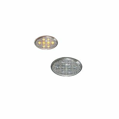 ACP Uni Silver Oval Amber LED's Side Repeaters Replacement Indicator
