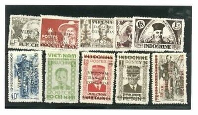 Viet Nam Mini collection of 10 different Old Time Vintage mint NH Stamps