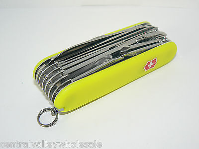 New Victorinox Swiss Army 91mm Knife  STAYGLOW SWISSCHAMP  31 Features 53508
