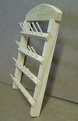 sewing thread rack 24 spool holder unfinished pine wood