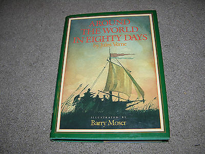 Around the World in Eighty Days Jules Verne illust Barry Moseryoung adult hc/dj