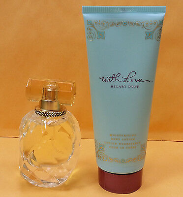 With Love Perfume Hilary Duff for Women GIFT SET 1.0 oz EDP Spray + BODY LOTION