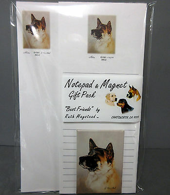New Akita Dog List Pad Note Pad & Magnet Set By Ruth Maystead Akitas Dogs