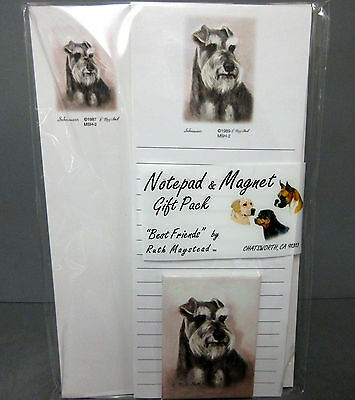 New Schnauzer Dog List and Note Pad /& Magnet Set  2 Pads Schnauzers Dogs