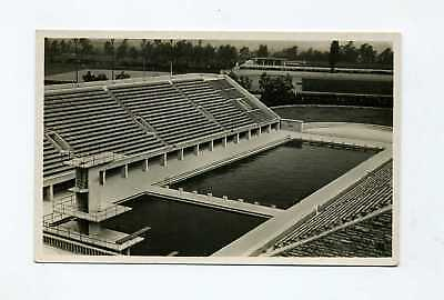 1936 Germany photocard Olympic Games swimming stadium