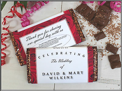 Personalised Wedding Day 114g Galaxy Chocolate Bar Wrer Favour Gift N45