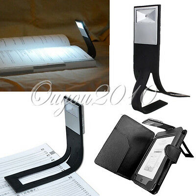LED Torch Clip ON Book Reading Bright Light Lamp Kindle IPad Laptop Travel New