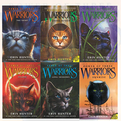 Warrior Cats Series Collection Erin Hunter's Power of Three 6 Books set