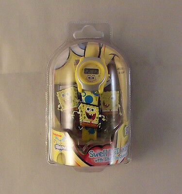 CASE OF 50  Spongebob LCD Watch with Slide on Characters (Dead Batteries)