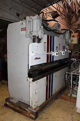 Pacific J Series 75 Ton x 8' Hydraulic Press Brake - Hurco Autobend 5C Control