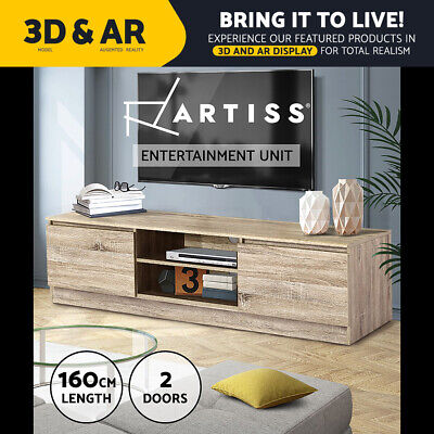 High Gloss TV Stand Unit Adjustable Entertainment Lowline Cabinet Corner Drawers