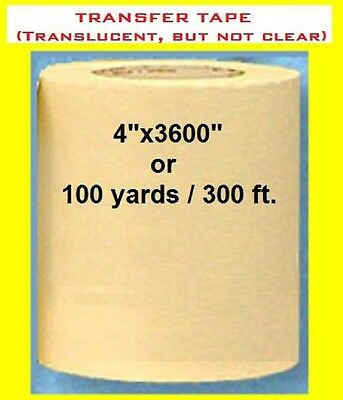 "4"" APPLICATION TRANSFER PAPER TAPE 300 ft. roll for Vinyl PLOTTER cutter NEW ***"