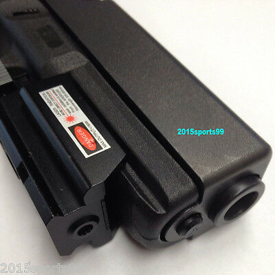 Tactical Red Laser sight with picatinny Weaver rail Mount For Gun Pistol/Glock