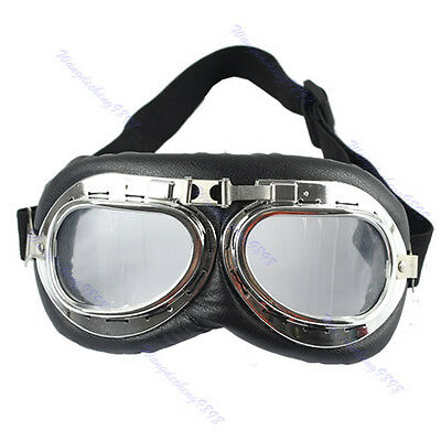 Motorcycle Scooter ATV Driving Goggles Eyewear Glasses Sunglass Clear Lens