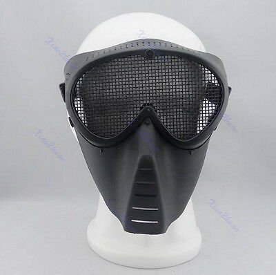Paintball Airsoft Gear Full Eyes Face Nose Wear Safety Protector Guard Mesh Mask
