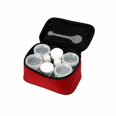 New 12p Portable Camping Spicy Box Sauce Containers With Pouch & Measuring Spoon