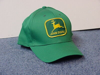 John Deere Green Adult Cap, With Patch, Full Back,  New