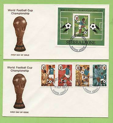 Sierra Leone 1982 World Cup Football Championship set & M/S on First Day Covers