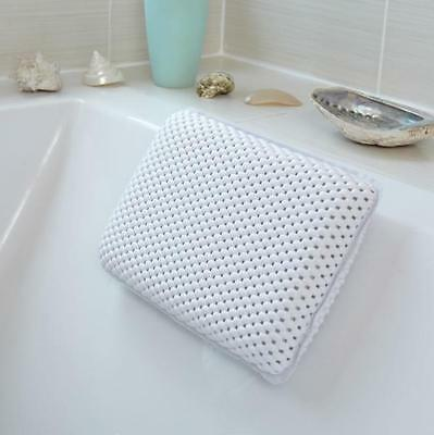 Active Living Luxury Padded Neck Back Support Bath Pillow Cushion Suction Cups