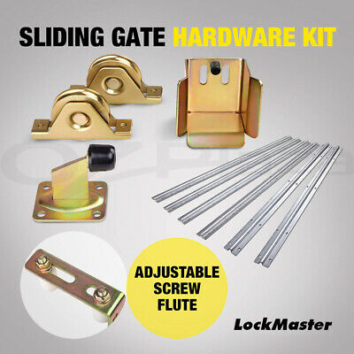 Roller Guide Sliding Gate Opener Track Stopper Wheels Hardware Accessories Kit