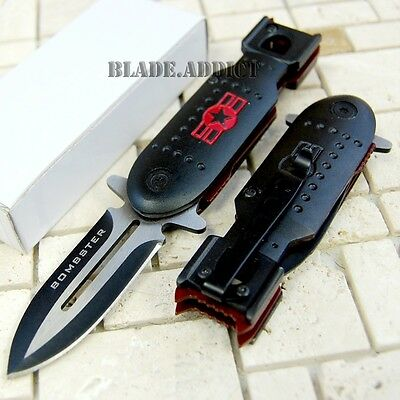 "5."" Military Bomber Tactical Combat Spring Assisted Open Pocket Knife 6282-H"
