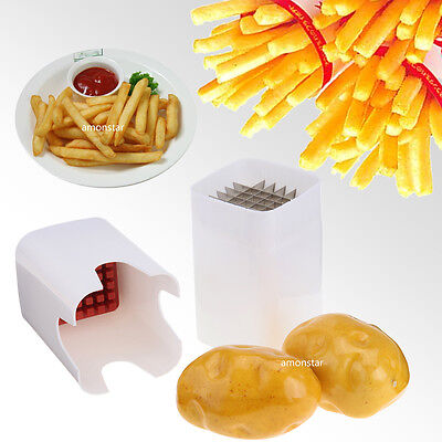 One Step French Fry Cutter Kitchen Fries Potato Vegetable Fruit Slicer Tool