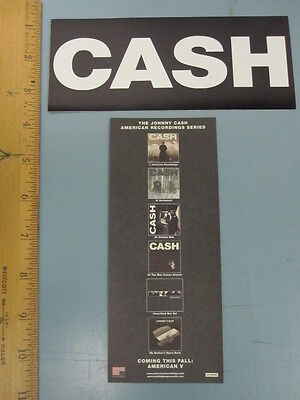 JOHNNY CASH 2003 american recordings promotional sticker!~MINT condition~!!