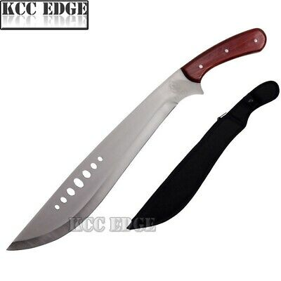 "21"" Full Tang Forest Bush Rescue Survival Machete Knife w/ Wooden Grip Xmas Gift"