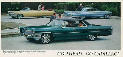 1962 1964 1965 Cadillac DeVille Convertible Sedan Large Factory Postcard my1779