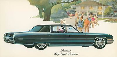 1971 Cadillac Fleetwood Sixty Special Brougham Large Factory Postcard my1790