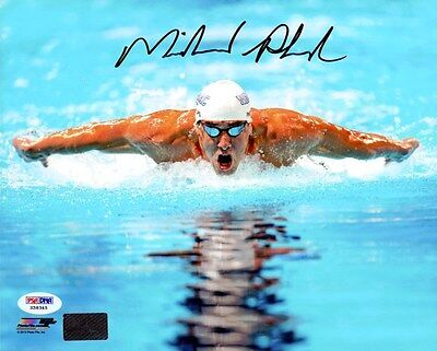 MICHAEL PHELPS AUTOGRAPHED SIGNED 8X10 PHOTO TEAM USA PSA/DNA STOCK #83665